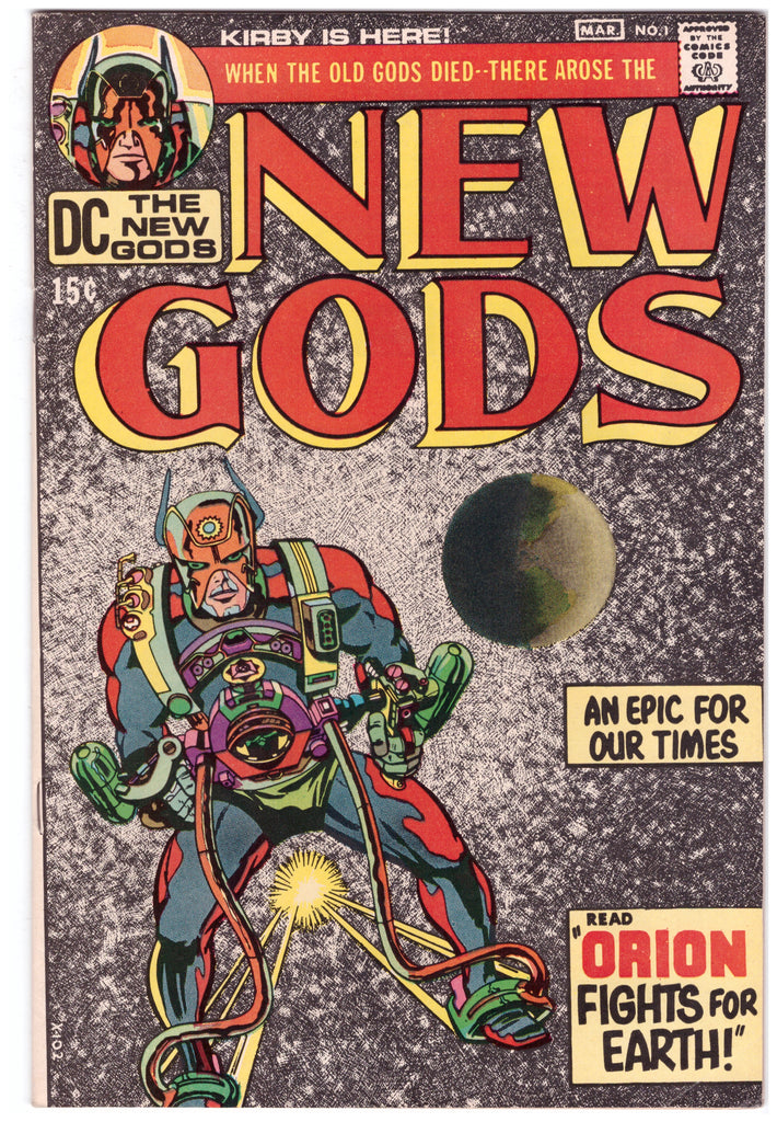 NEW GODS #1 (1971) SIGNED BY JACK KIRBY - NM-