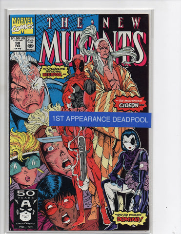 NEW MUTANTS #98 1ST APPEARANCE OF DEADPOOL ROB LEIFELD-NM