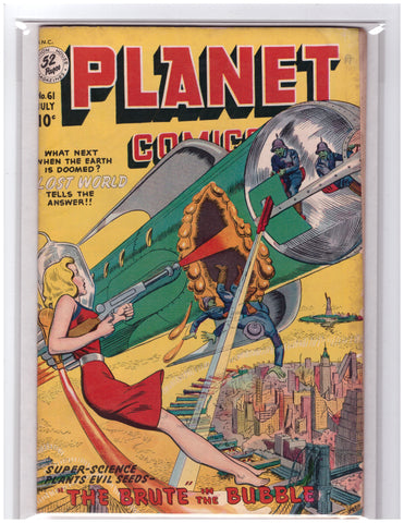PLANET COMICS #61 FICTION HOUSE 1940-VF+