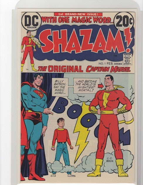SHAZAM #1 DC COMICS 1973 HARLAN ELLISON COLLECTION-VF/NM