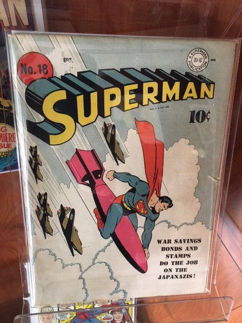 SUPERMAN #18 GOLDEN AGE (1942) JERRY SIEGEL JOE SHUSTER-VG+/FINE