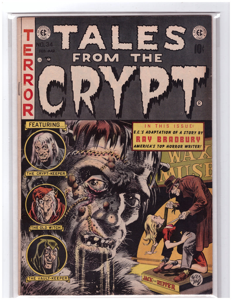 TALES FROM THE CRYPT #34 EC COMICS (1950) RAY BRADBURY VF/NM