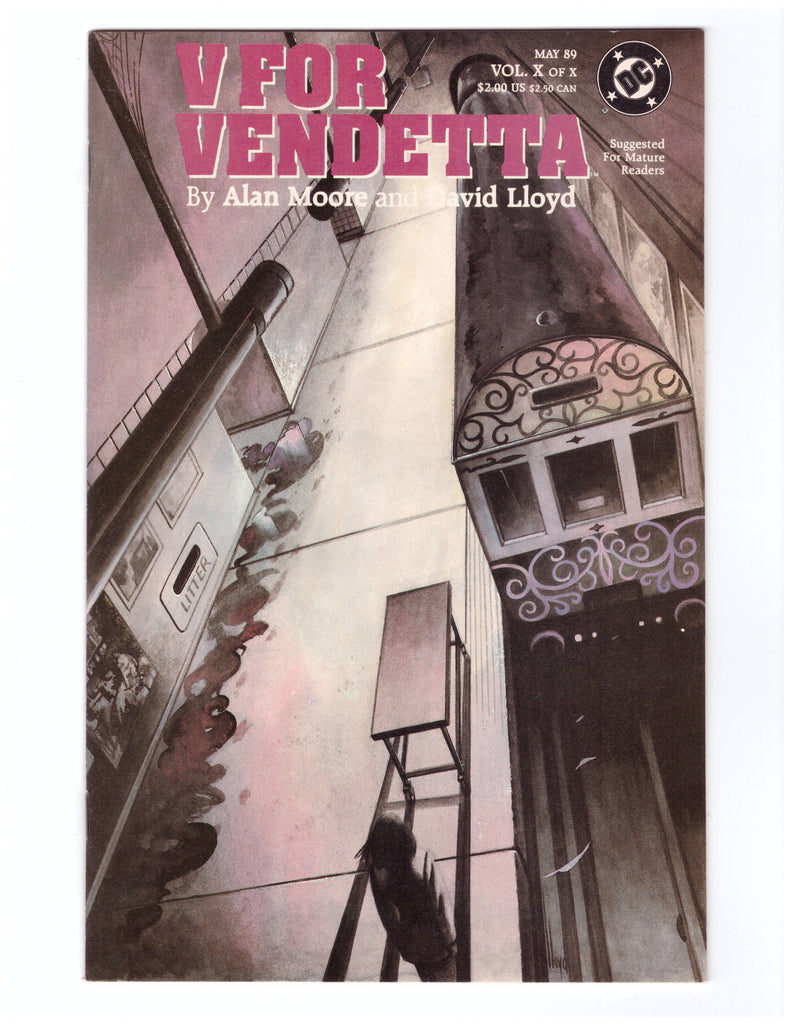 V FOR VENDETTA #10 VF/NM ALAN MOORE DAVID LLOYD - BLASTOFF COMICS
