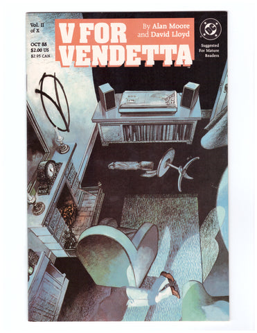 V FOR VENDETTA #2 VF/NM ALAN MOORE DAVID LLOYD - BLASTOFF COMICS