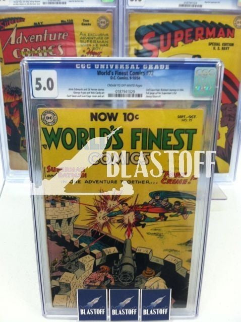 WORLD'S FINEST COMICS #72-CGC 5.0-MARK WAID COLLECTION
