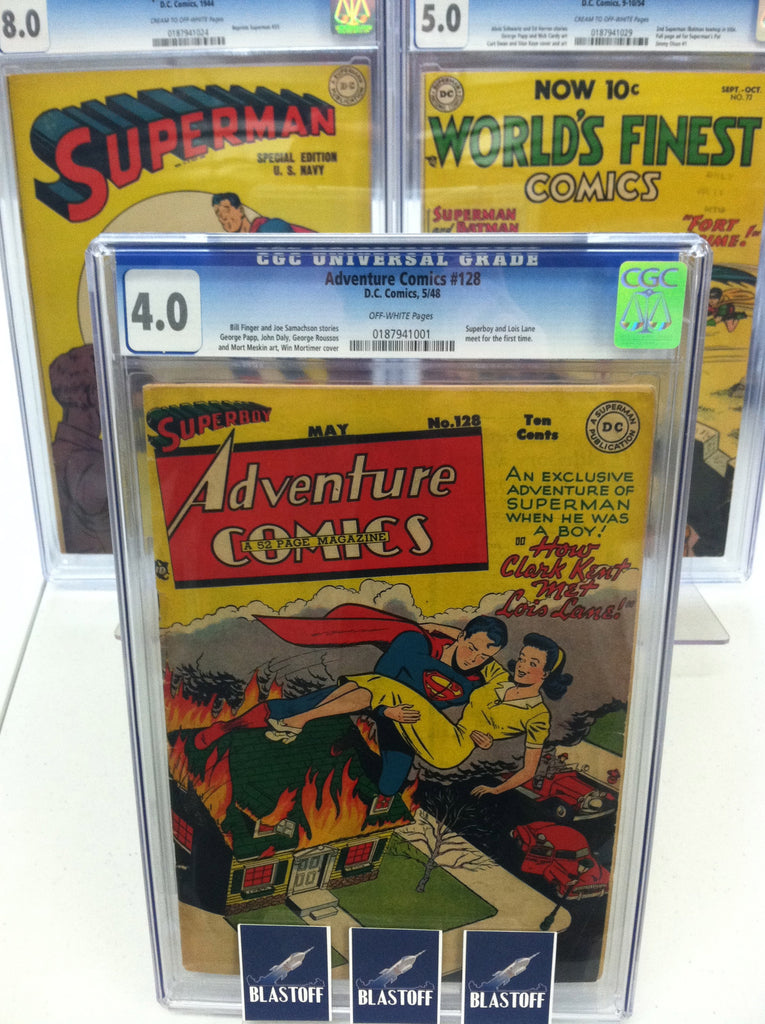 ADVENTURE COMICS #128 MARK WAID COLLECTION-CGC 4.0