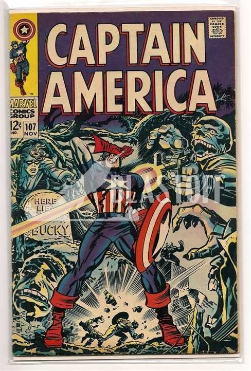 Captain America #107 Jack Kirby Cover