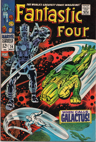 FANTASTIC FOUR #74 (1968) GALACTUS AND SILVER SURFER APPEARANCE-FINE