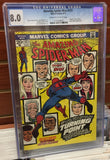 AMAZING SPIDER-MAN #121 DEATH OF GWEN STACY - CGC GRADED 8.0
