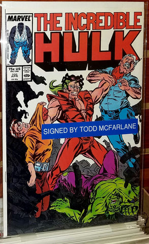 INCREDIBLE HULK #330 (1987) SIGNED TODD MCFRALANE-NM/M