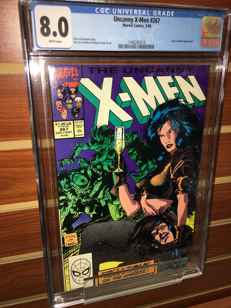 UNCANNY X-MEN #267 CGC GRADED 8.0 WHITE PAGES GAMBIT