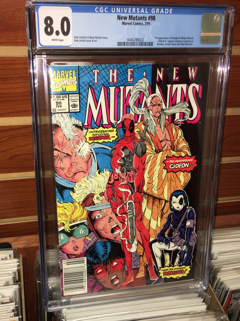 NEW MUTANTS #98 CGC 8.0 WHITE PAGES 1ST APPEARANCE OF DEADPOOL ROB LEIFELD