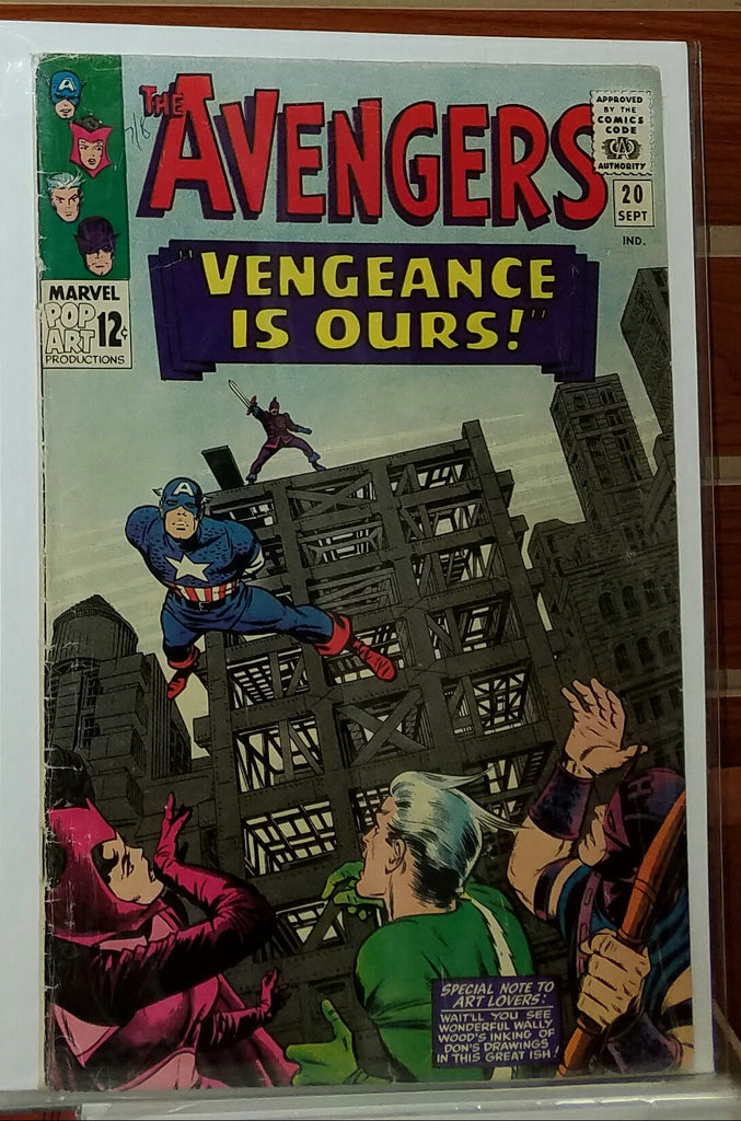 AVENGERS #20 (1965) JACK KIRBY COVER WALLY WOOD-FINE-