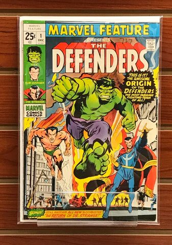 MARVEL FEATURE #1 1ST APPEARANCE OF THE DEFENDERS FN/VF