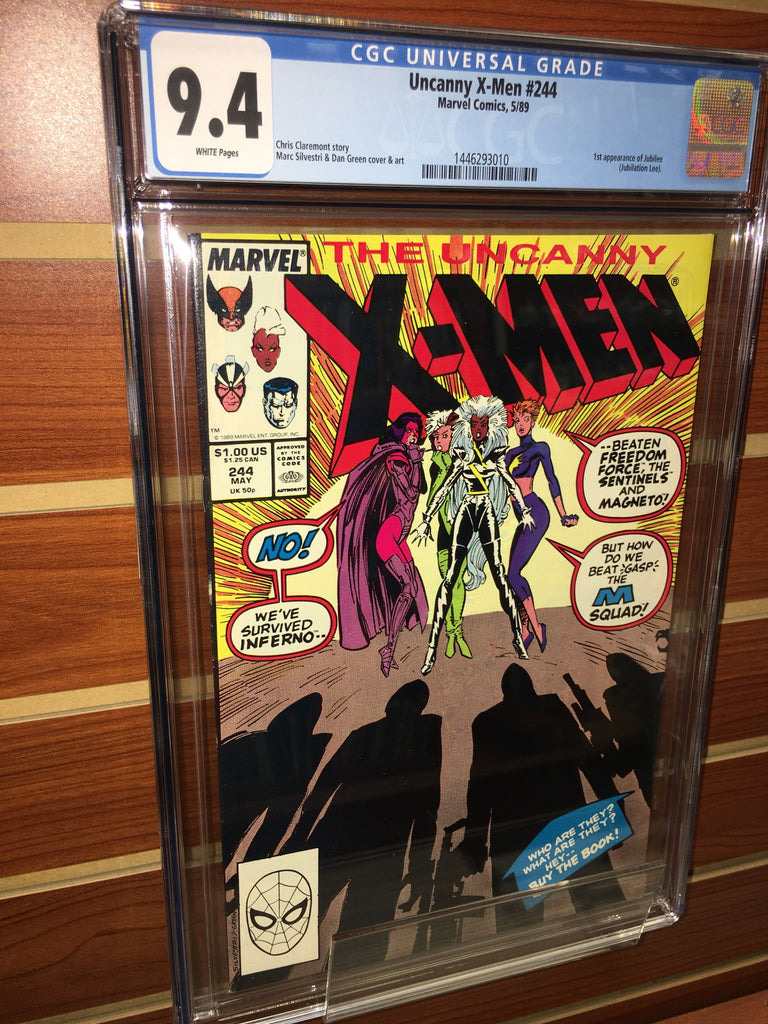 UNCANNY X-MEN #244 CGC GRADED 9.4 WHITE PAGES 1ST JUBILEE