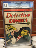 DETECTIVE COMICS #2 1937 CGC GRADED 1.5 - JERRY SIEGEL JOE SHUSTER