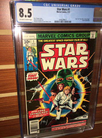 STAR WARS #1 1ST PRINTING CGC GRADED 8.5 VF+ (1977)