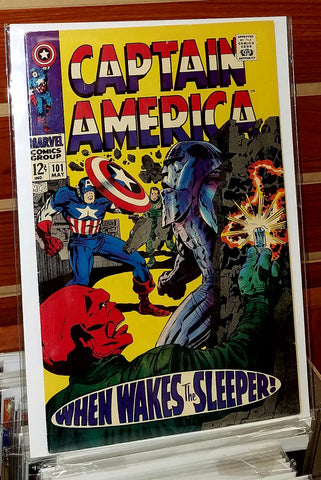 Captain America #101 (1968) Jack Kirby Cover