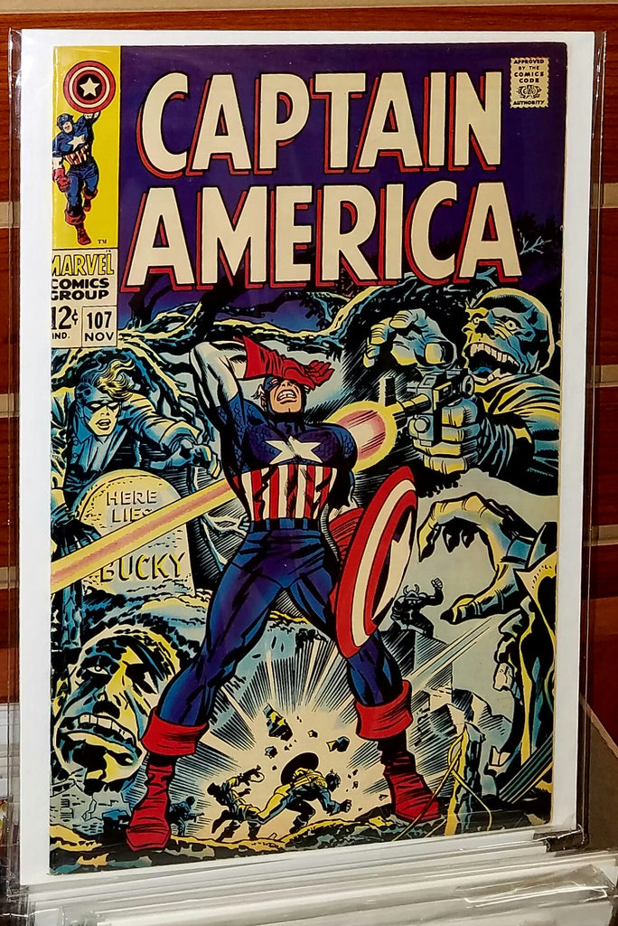 CAPTAIN AMERICA #107 (1968) 1ST APPEARANCE DR. FAUSTUS-VF+