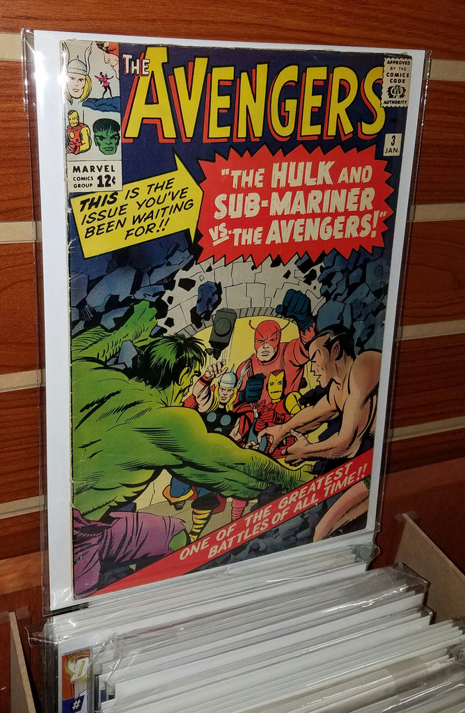AVENGERS #3 (1964) JACK KIRBY COVER-FINE-