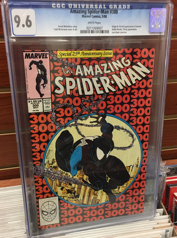 AMAZING SPIDER-MAN #300 1ST APPEARANCE VENOM CGC 9.6 WHITE PAGES MCFARLANE