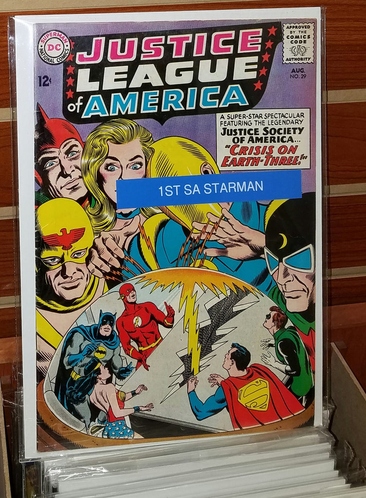 JUSTICE LEAGUE OF AMERICA #29 (1964) 1ST SILVER AGE APPEARANCE STAR MAN-VF-