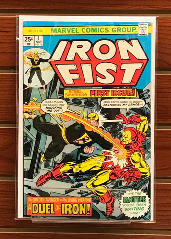 IRON FIST #1 (1977) 1ST SOLO SERIES CHRIS CLAREMONT MARVEL VALUE STAMP NM-