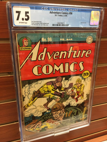 ADVENTURE COMICS #96 (1945) CGC GRADED 7.5 GOLDEN AGE JACK KIRBY