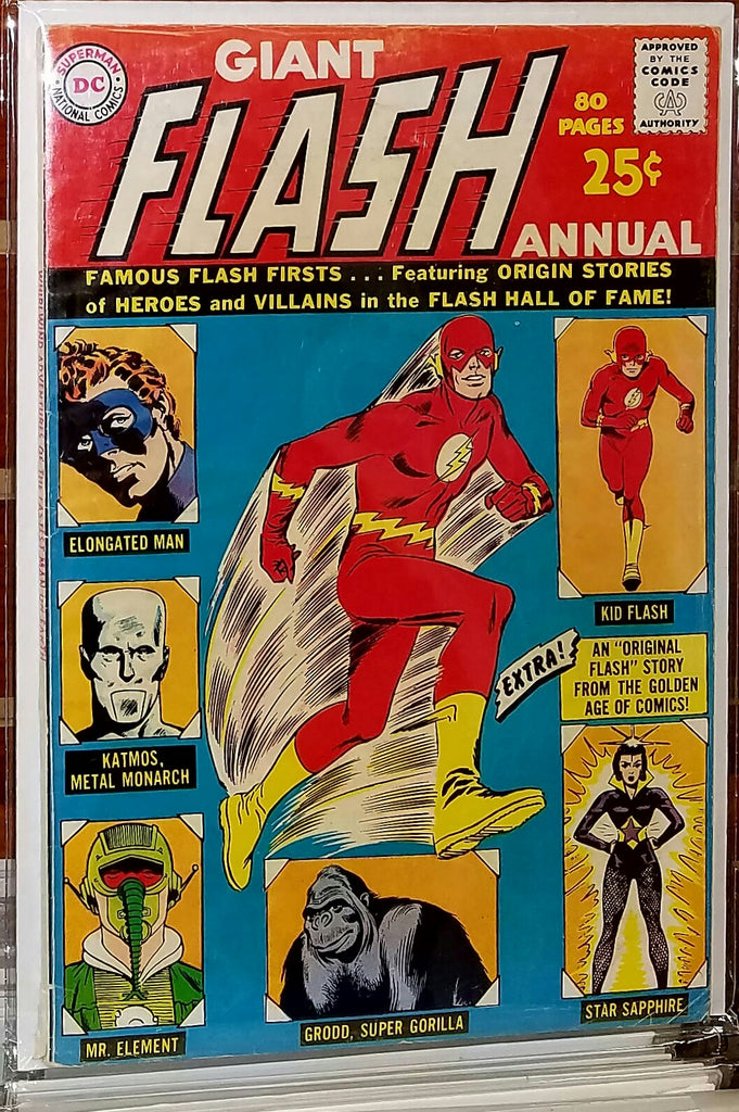 FLASH ANNUAL #1 (1963) JOE KUBERT-FINE