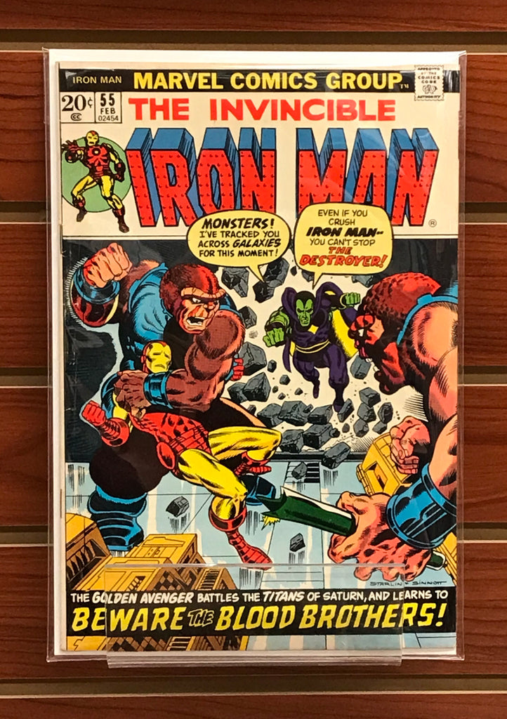 IRON MAN #55 1ST APPEARANCE THANOS AND DRAX VF