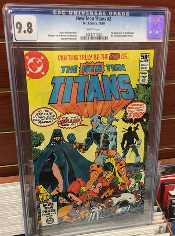 NEW TEEN TITANS #2 1ST APPEARANCE DEATHSTROKE CGC 9.8 WHITE PAGES