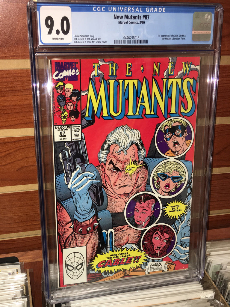 NEW MUTANTS #87 1ST APPEARANCE CABLE-CGC GRADED 9.0 WHITE PAGES
