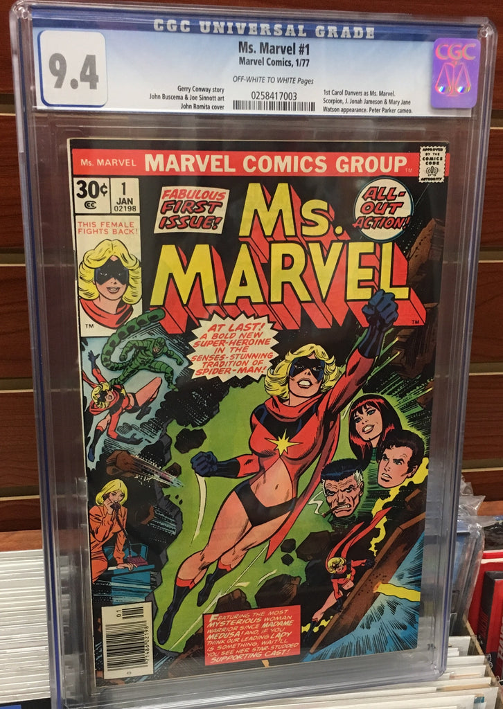 MS. MARVEL #1 1ST APPEARANCE OF MS. MARVEL - CGC GRADED 9.4