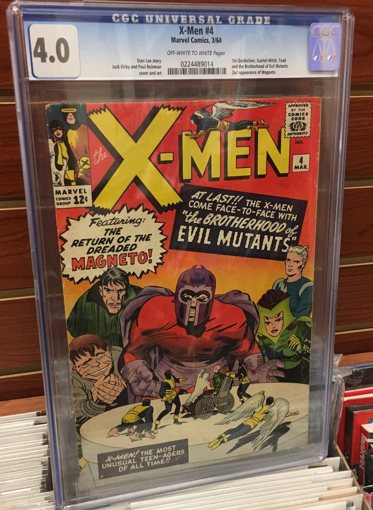 UNCANNY X-MEN #4 1ST APPEARANCE SCARLET WITCH CGC 4.0 STAN LEE JACK KIRBY