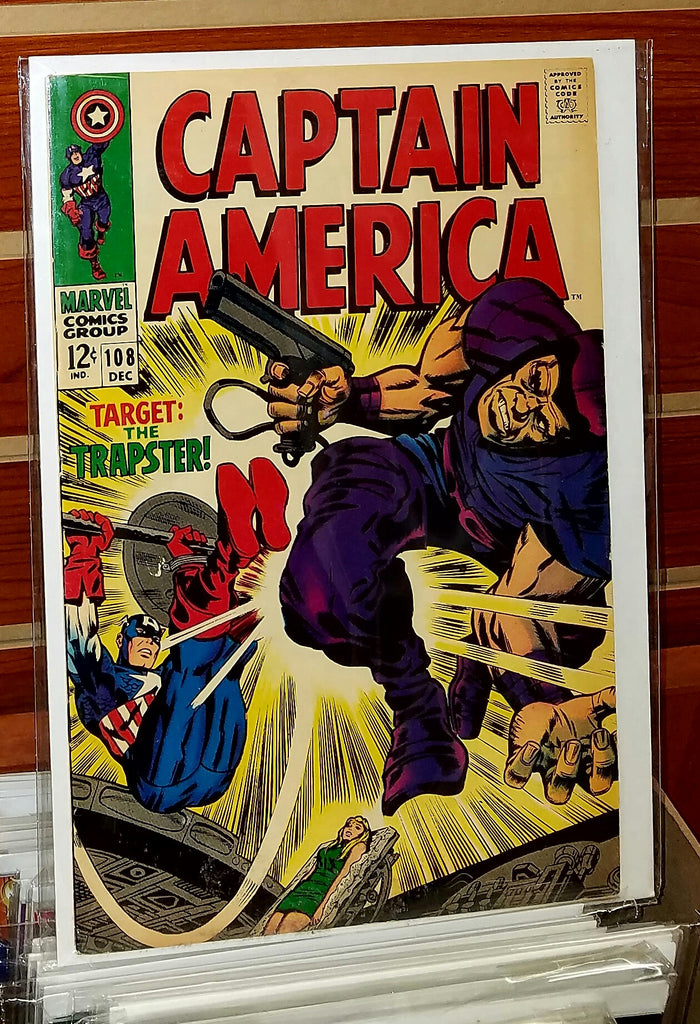 Captain America #108 (1968) Jack Kirby Cover
