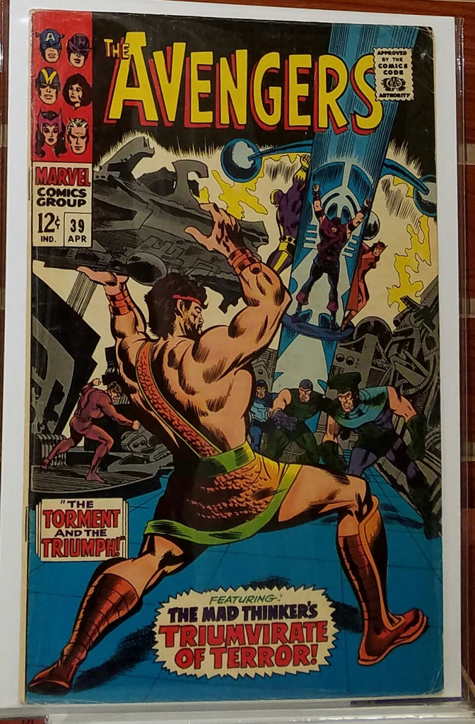 AVENGERS #39 (1967) THE MAD THINKER APPEARANCE-VF-