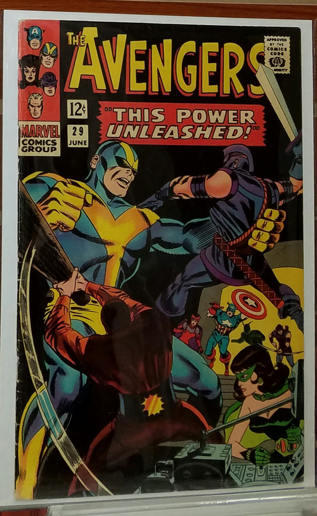 AVENGERS #29 (1966) BLACK WIDOW APPEARANCE-FINE+/VF