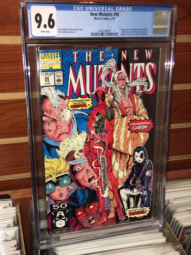 NEW MUTANTS #98 CGC 9.6 WHITE PAGES 1ST APPEARANCE OF DEADPOOL ROB LEIFELD