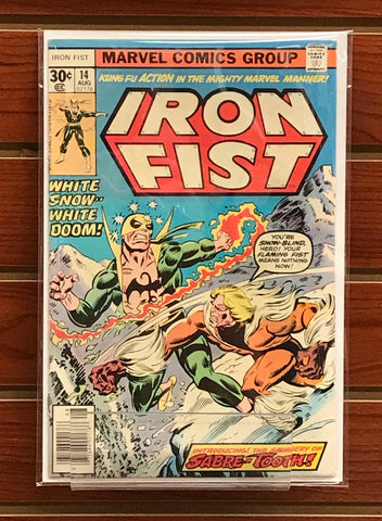 IRON FIST #14 (1977) 1ST APPEARANCE SABERTOOTH CHRIS CLAREMONT-NM