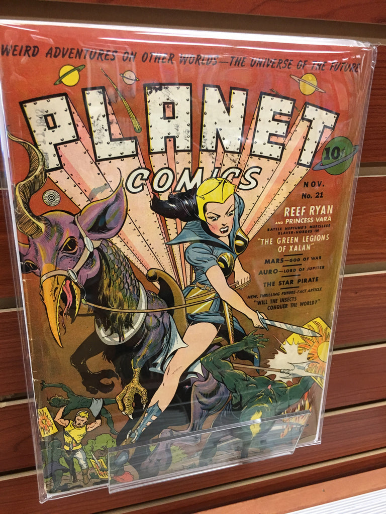 PLANET COMICS #21 FICTION HOUSE (1942) PRE-CODE FINE+/VF
