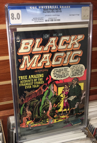 BLACK MAGIC #2 (1951) CGC GRADED 8.0 JACK KIRBY DAVIS CRIPPEN PEDIGREE HERITAGE COA