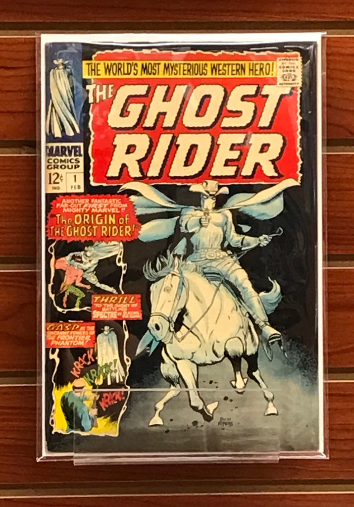 THE GHOST RIDER #1 (1967) 1ST APPEARANCE GHOST RIDER AND BANSHEE VF