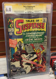 TALES OF SUSPENSE #52 1ST APPEARANCE BLACK WIDOW CGC 6.0 SIGNED STAN LEE