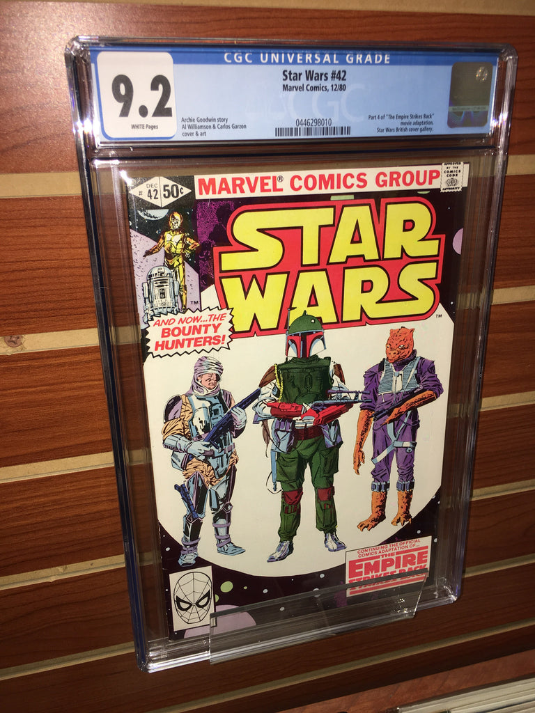 STAR WARS #42 1ST APPEARANCE BOBA FETT CGC GRADED 9.2 NM WHITE PAGES