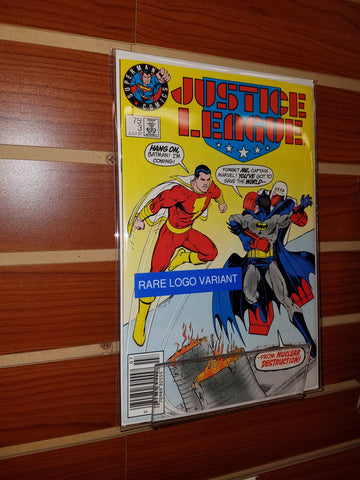 JUSTICE LEAGUE OF AMERICA #3 SUPERMAN LOGO VARIANT (1987)-NM-