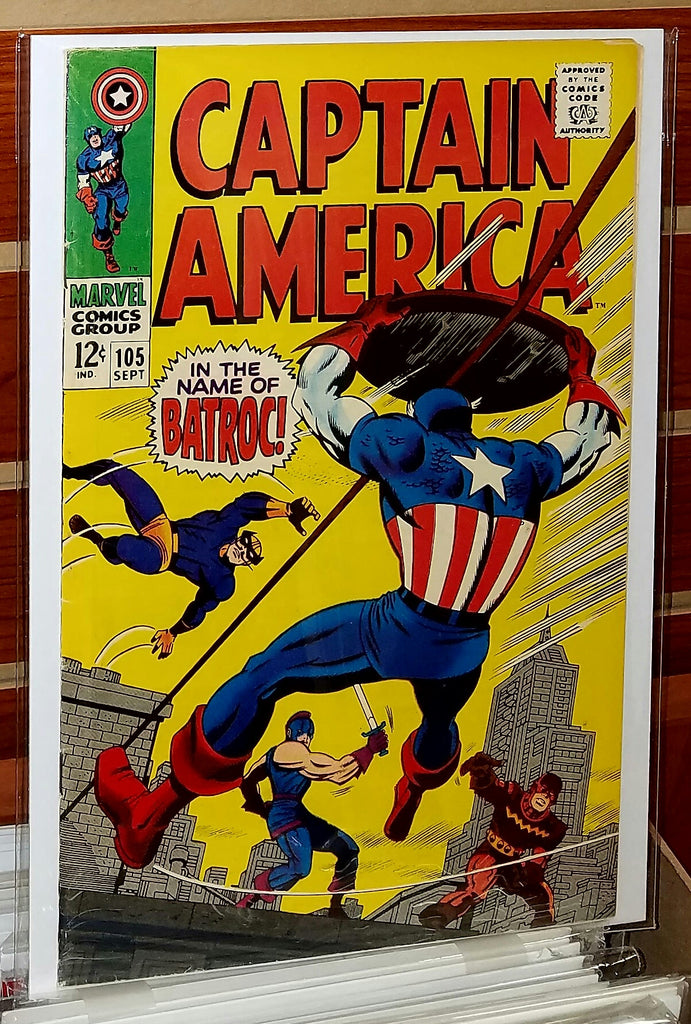 Captain America #105 (1968) Jack Kirby Cover