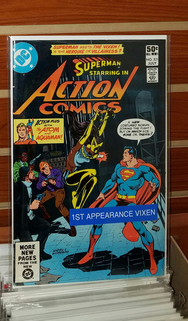ACTION COMICS #521 1st APPEARANCE VIXEN-NM