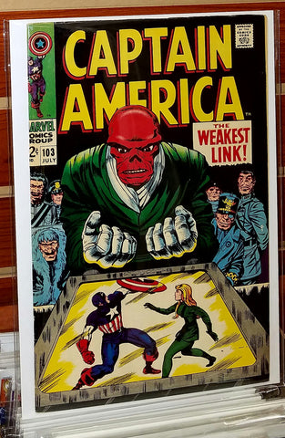 Captain America #103 (1968) Jack Kirby Cover