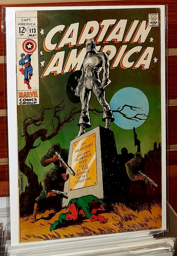 Captain America #113 (1968) Jim Steranko Cover