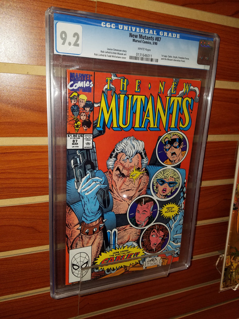 NEW MUTANTS #87 1ST APPEARANCE CABLE-CGC GRADED 9.2 WHITE PAGES